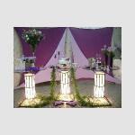 mesa de vidro iluminada