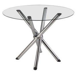 mesa de vidro redonda